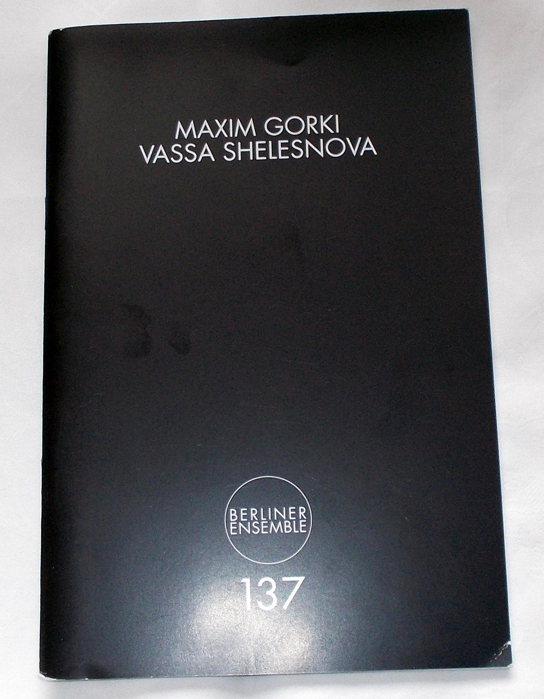 Programmheft Vassa Shelesnova von Maxim Gorki. Berliner Ensemble 2012
