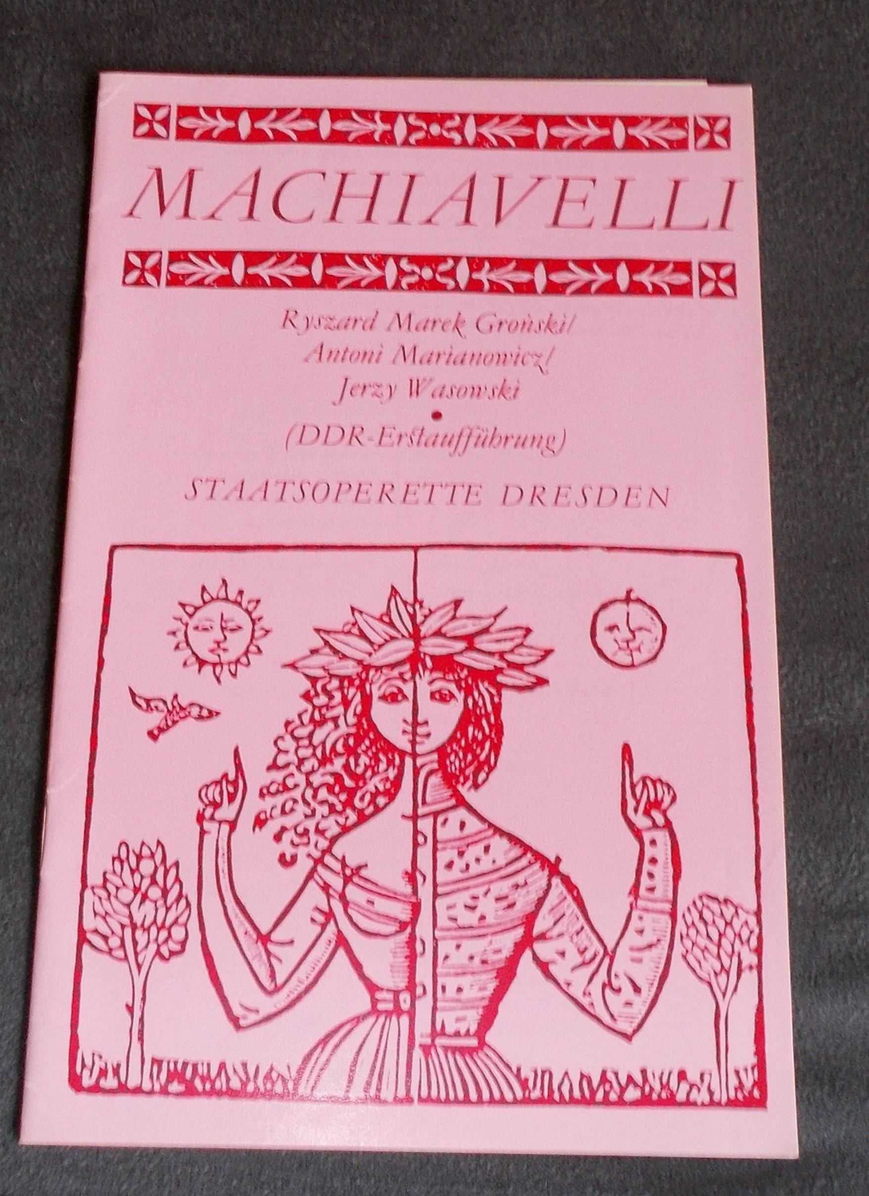 Programmheft DDR-Erstaufführung MACHIAVELLI  Staatsoperette Dresden 1978