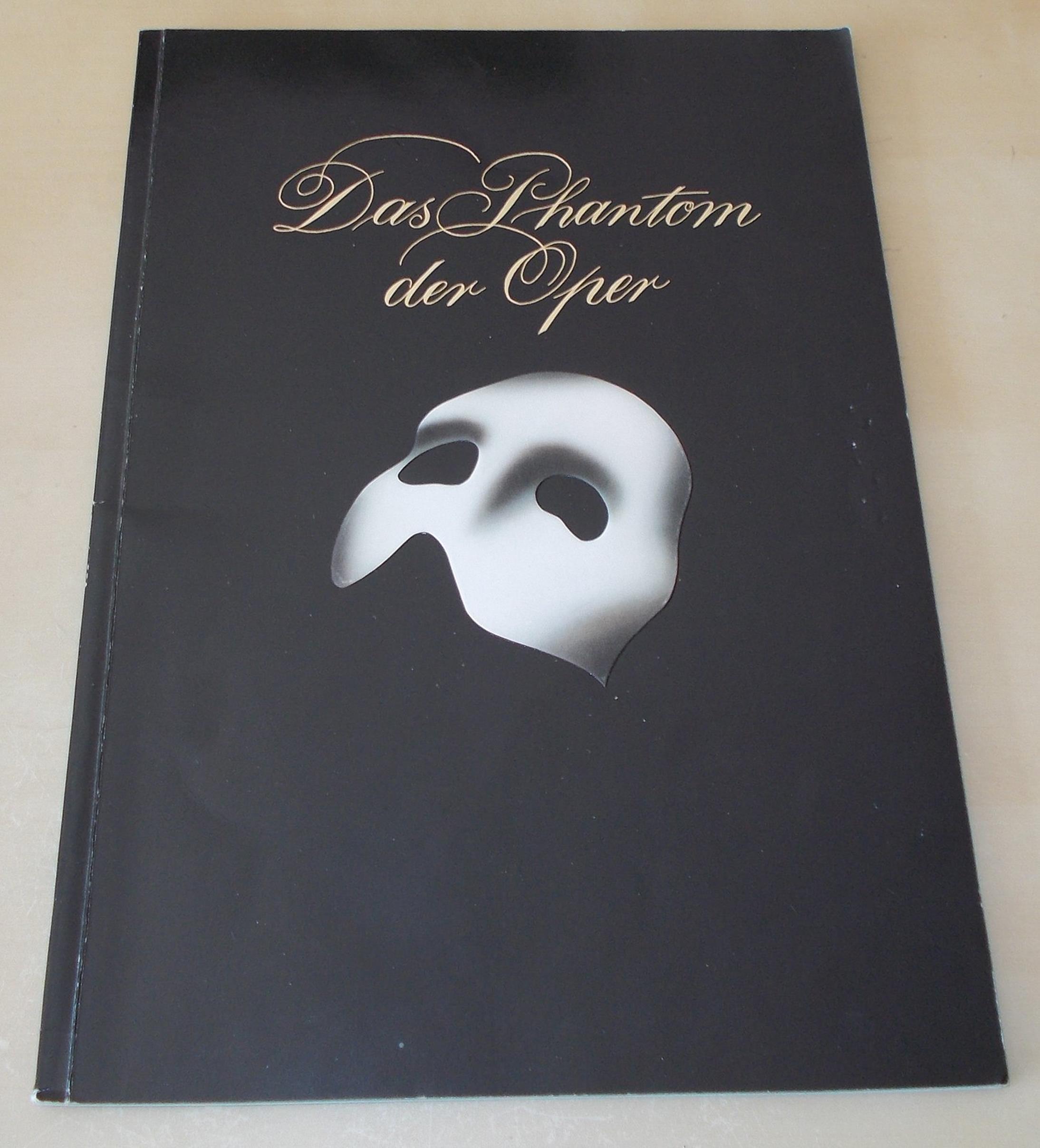 Programmheft Das Phantom der Oper. Mit Widmung von Hartwig Rudolz, signiert