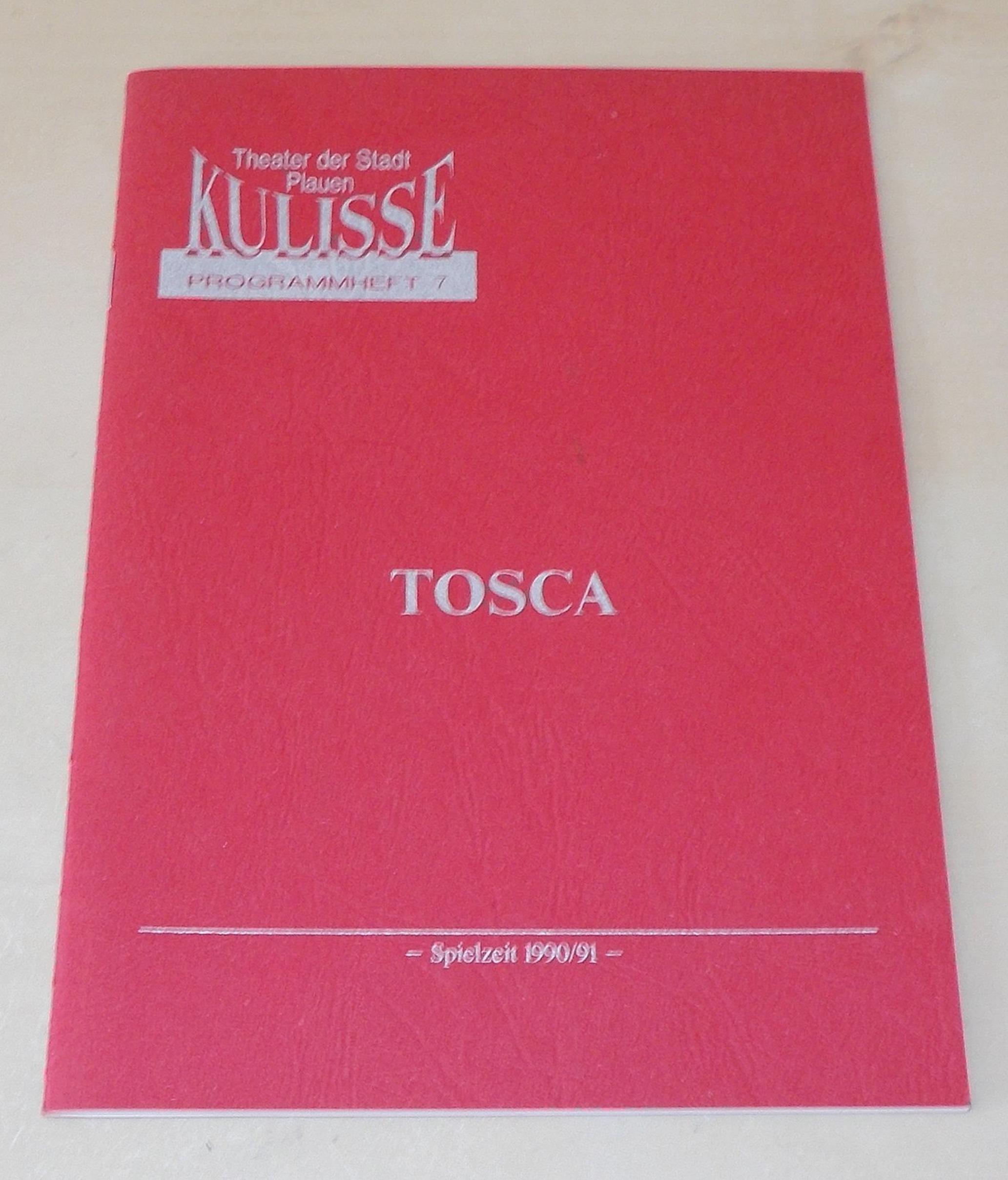 Programmheft TOSCA KULISSE Theater der Stadt Plauen 1991