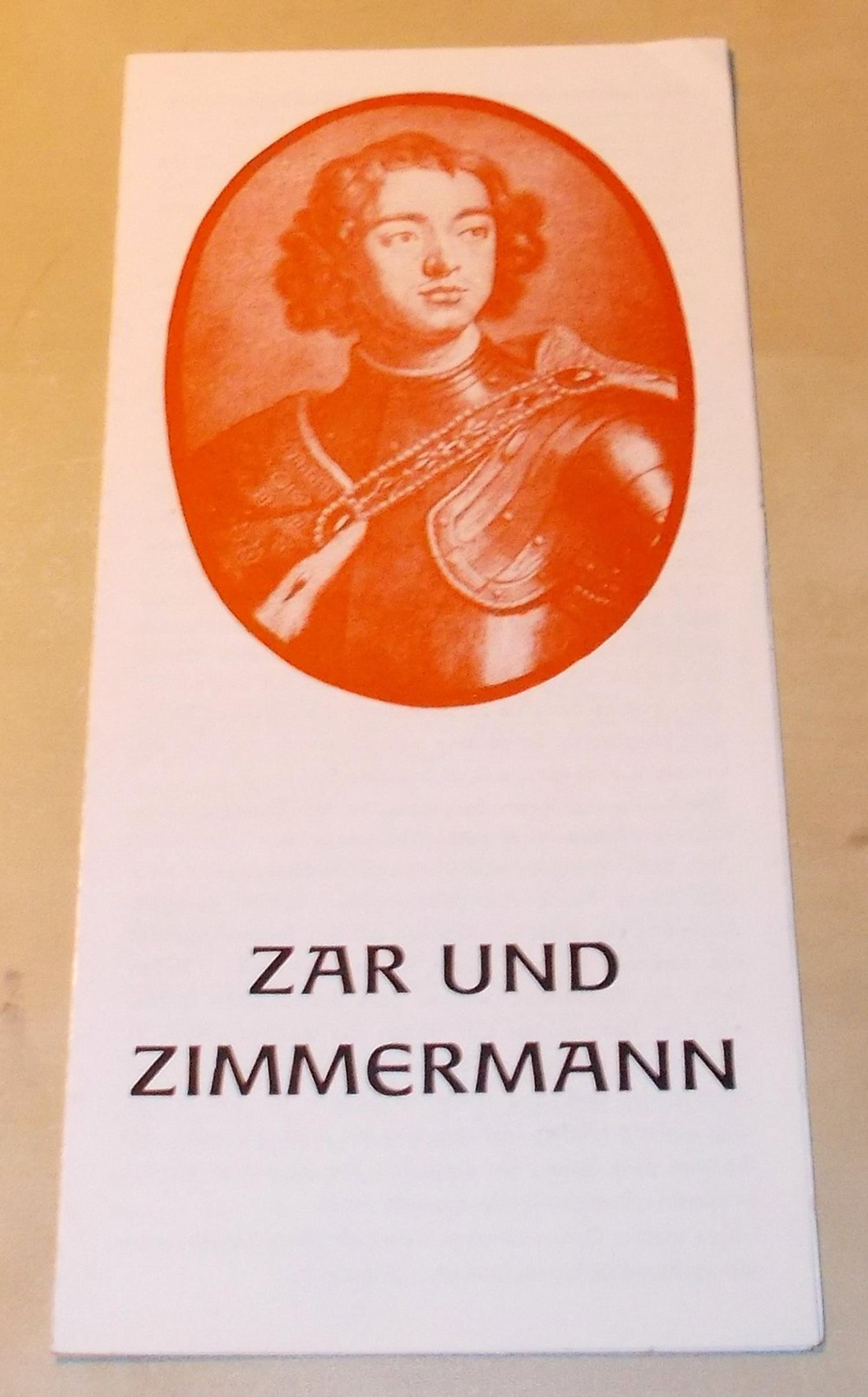 Programmheft ZAR UND ZIMMERMANN. Stadttheater Freiberg, 1979