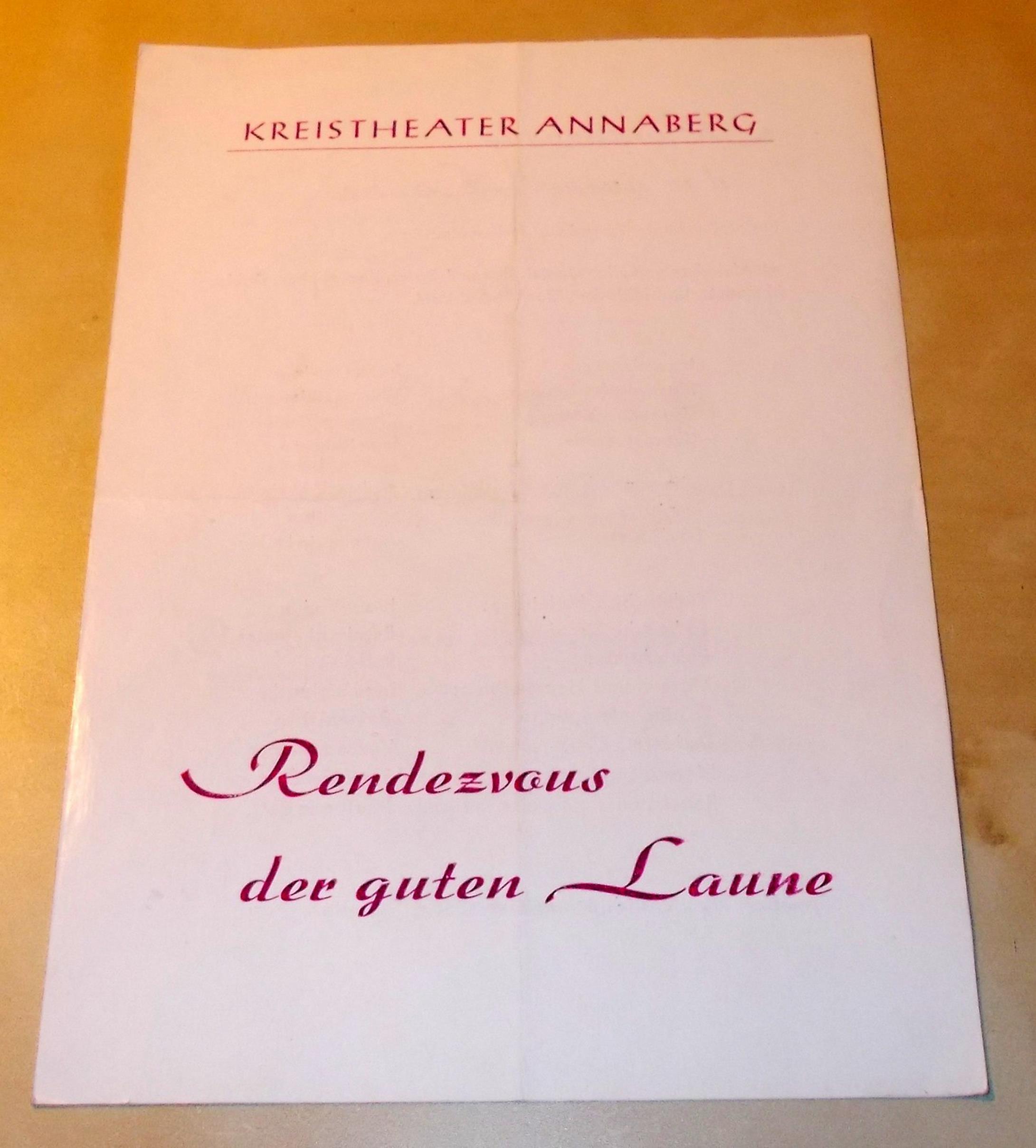 Programmheft Rendezvous der guten Laune. Spielzeit 1974 / 75 Heft 10 Kreitheater