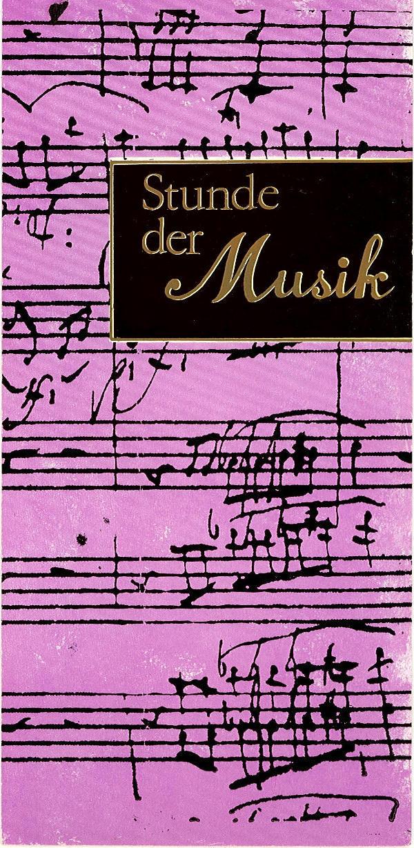 Programmheft Stunde der Musik. Manfred Scherzer / Jürgen Schröder 1975