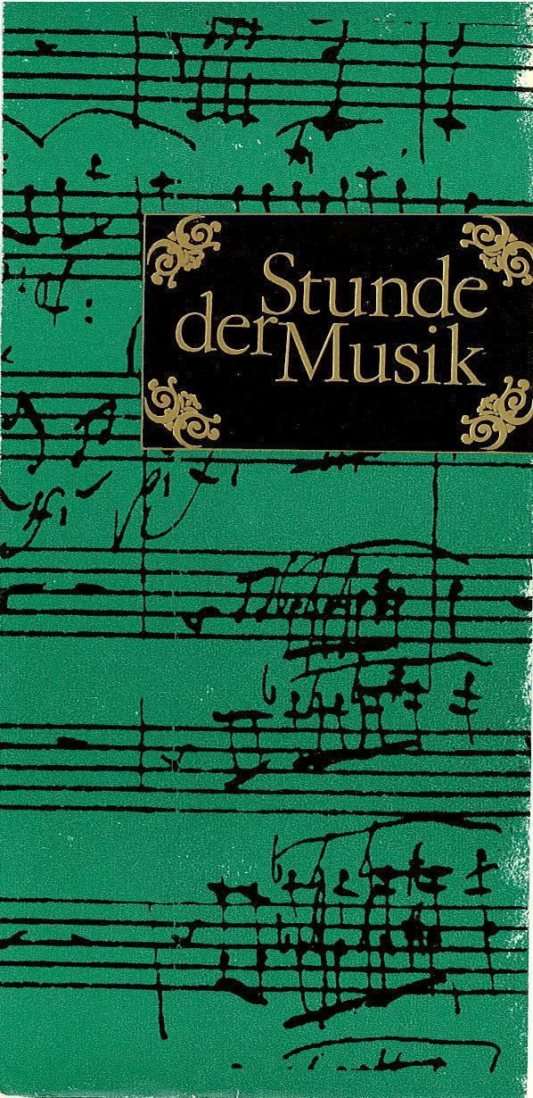 Programmheft Stunde der Musik. Schob-Lipka, Lipka, Webersinke 1977