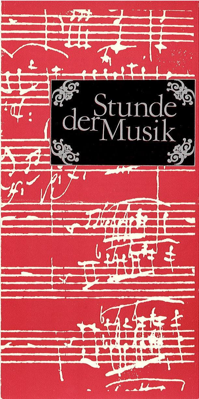 Programmheft Stunde der Musik. Amadeus Webersinke 1983