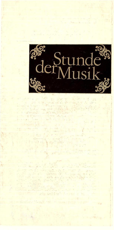 Programmheft Stunde der Musik. CSSR / DDR Gemeinschaftsprogramm 1979