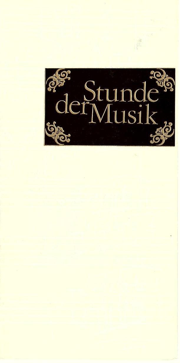 Programmheft Stunde der Musik. Rameau - Trio 1979