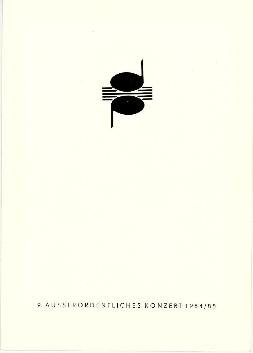Programmheft 9. Ausserordentliches Konzert. Dresdner Musikfestspiele 1985
