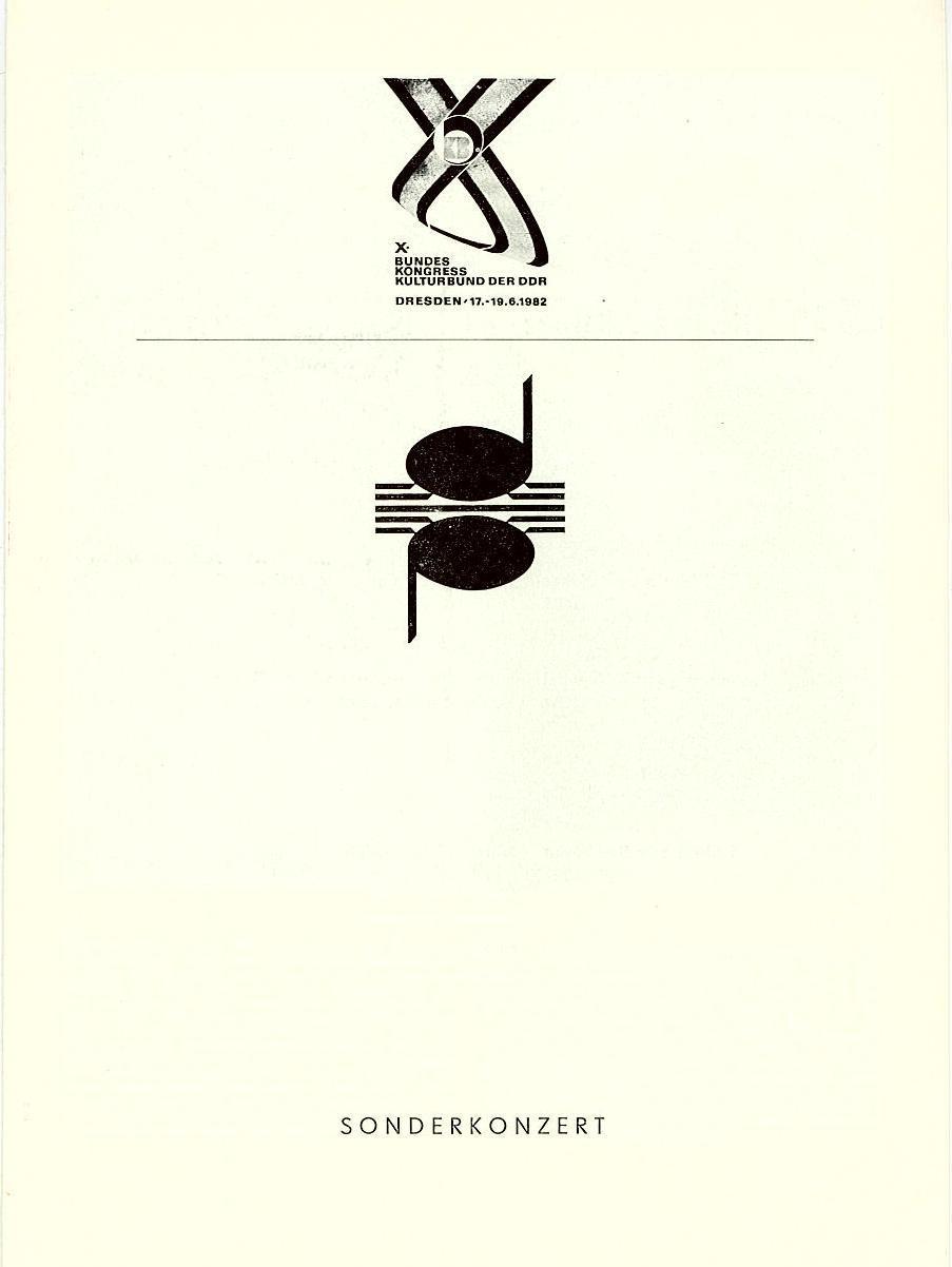 Programmheft Sonderkonzert X. Bundeskongress Kulturbund der DDR 1982