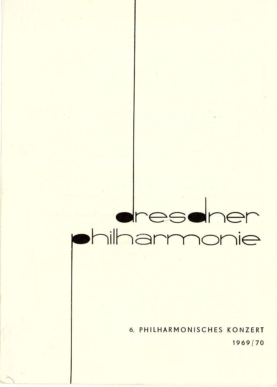 Programmheft 6. Philharmonisches Konzert Kurt Masur 1970