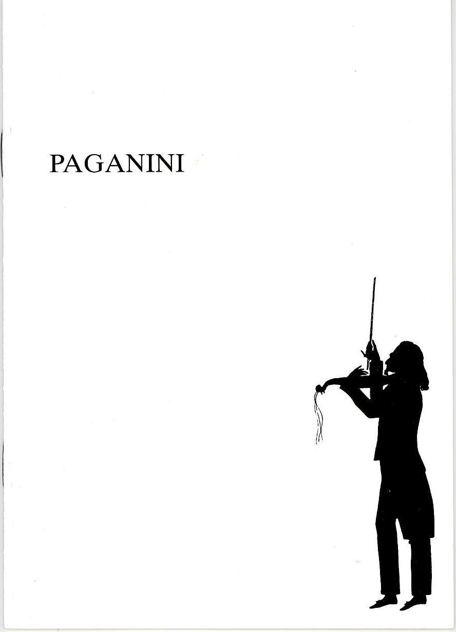 Programmheft PAGANINI. Operette. Oldenburgisches Staatstheater 1991