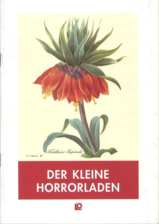 Programmheft Der kleine Horrorladen ( Little Shop of Horrors ) Oldenburg 1992