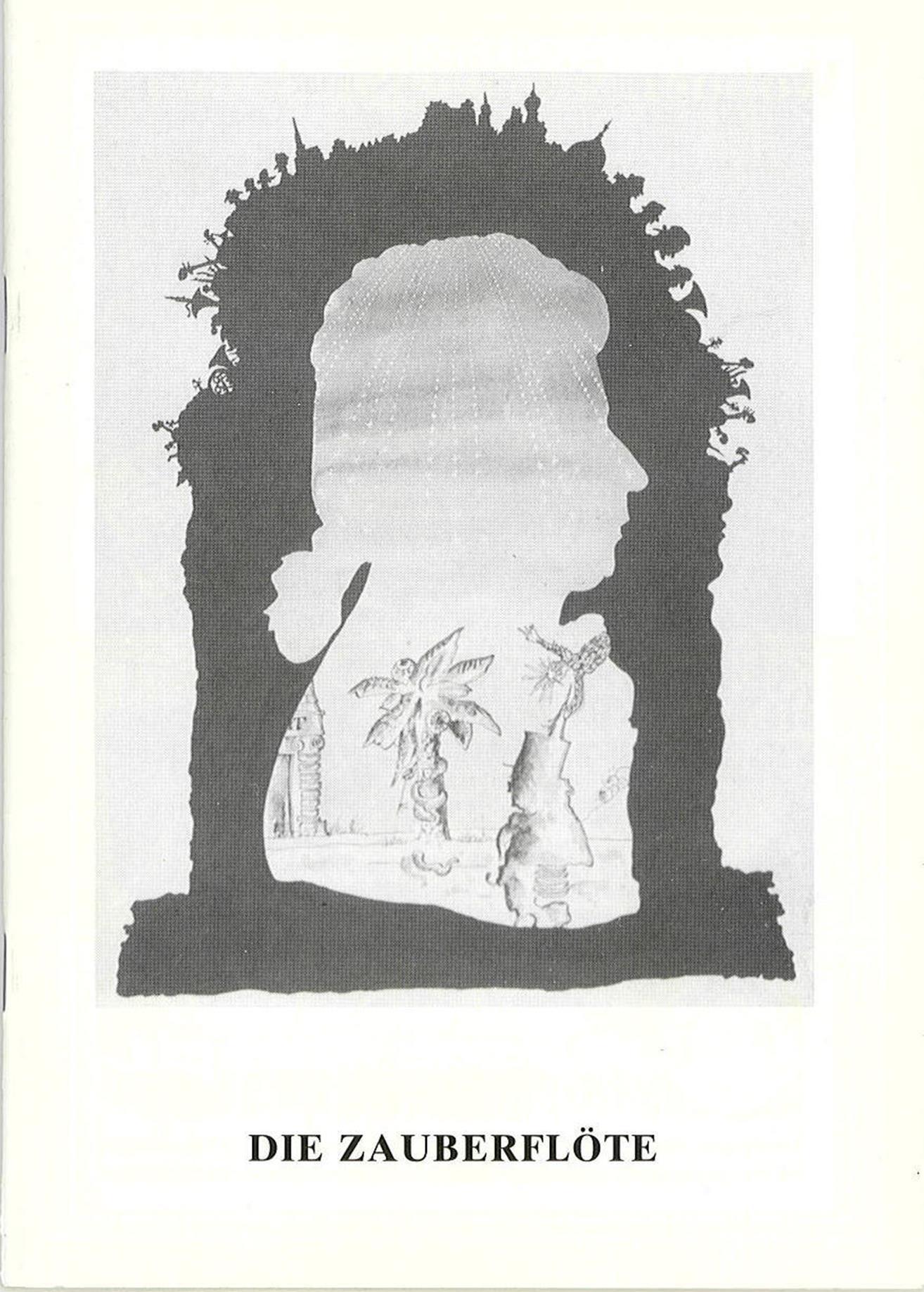Programmheft Die Zauberflöte Oldenburgisches Staatstheater 1991