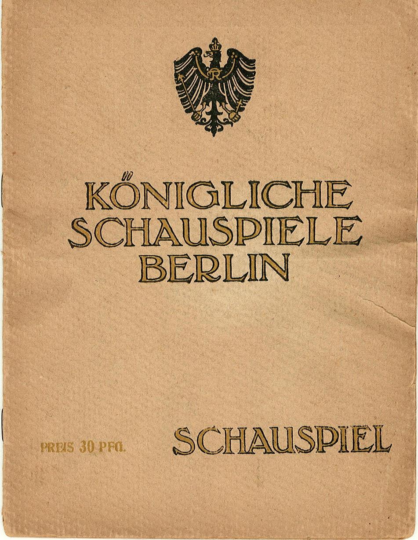 Programmheft DOKTOR KLAUS. Königliche Schauspiele Berlin, Schauspielhaus 1917