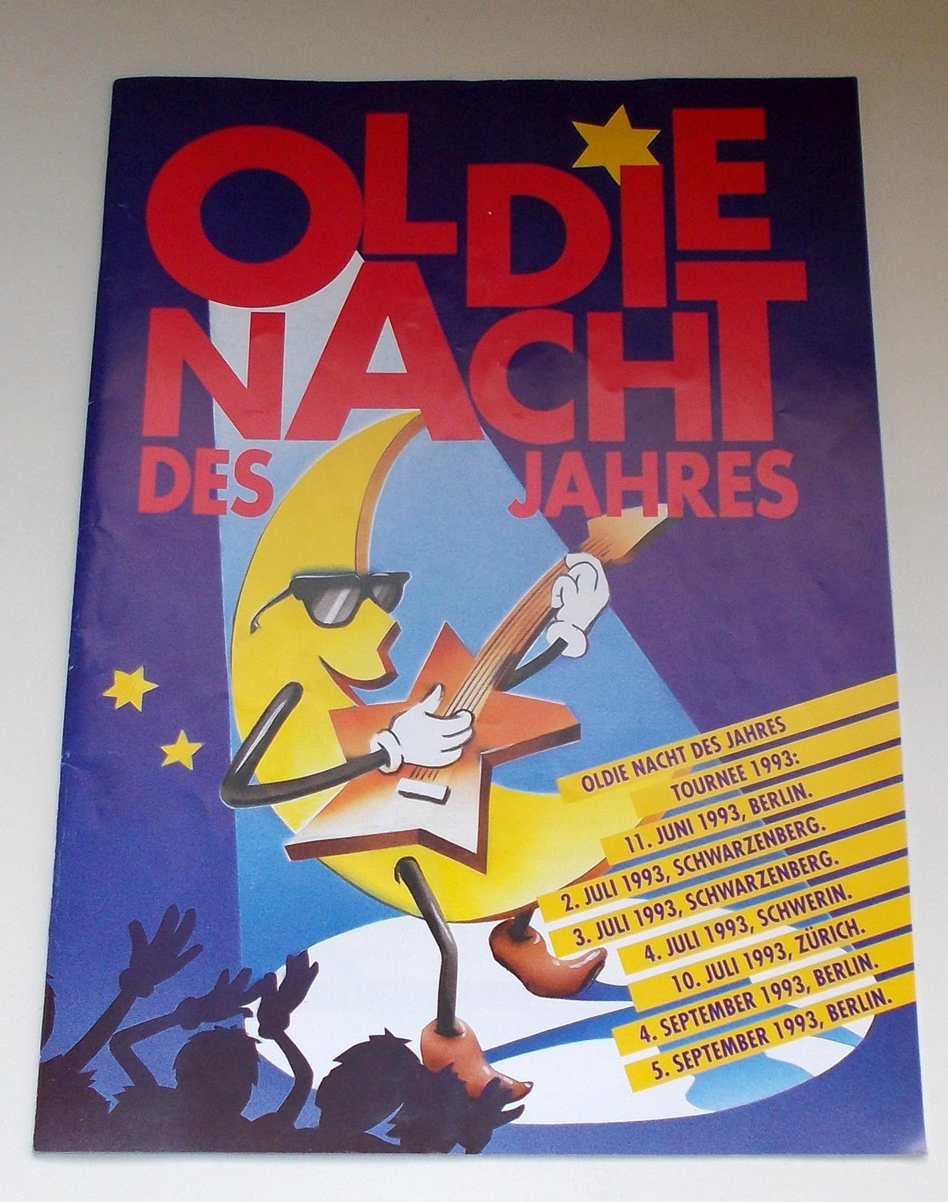 Programmheft OLDIE NACHT DES JAHRES 1993