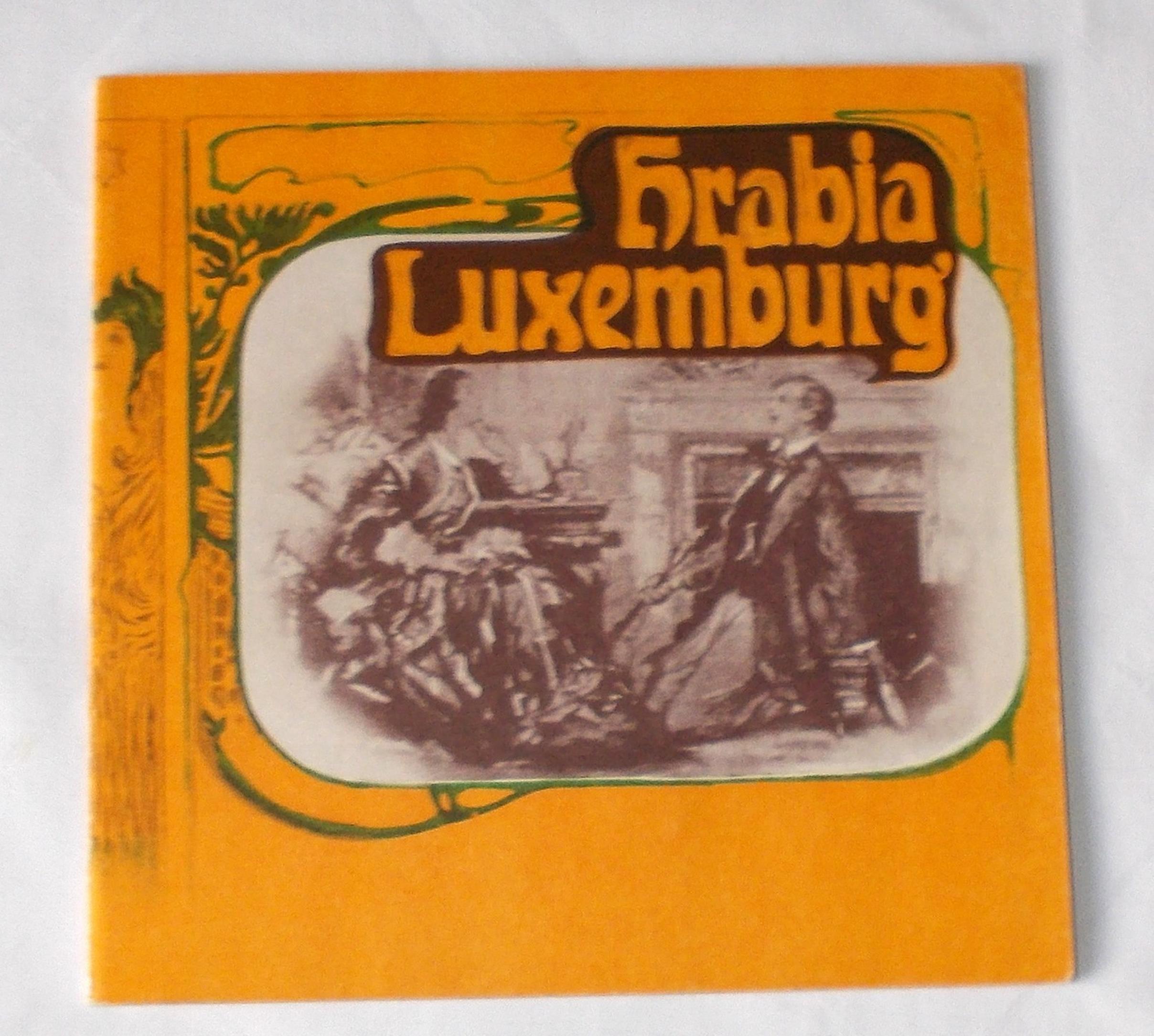Programmheft Hrabia Luxemburg. Der Graf von Luxemburg. Krakau 1976