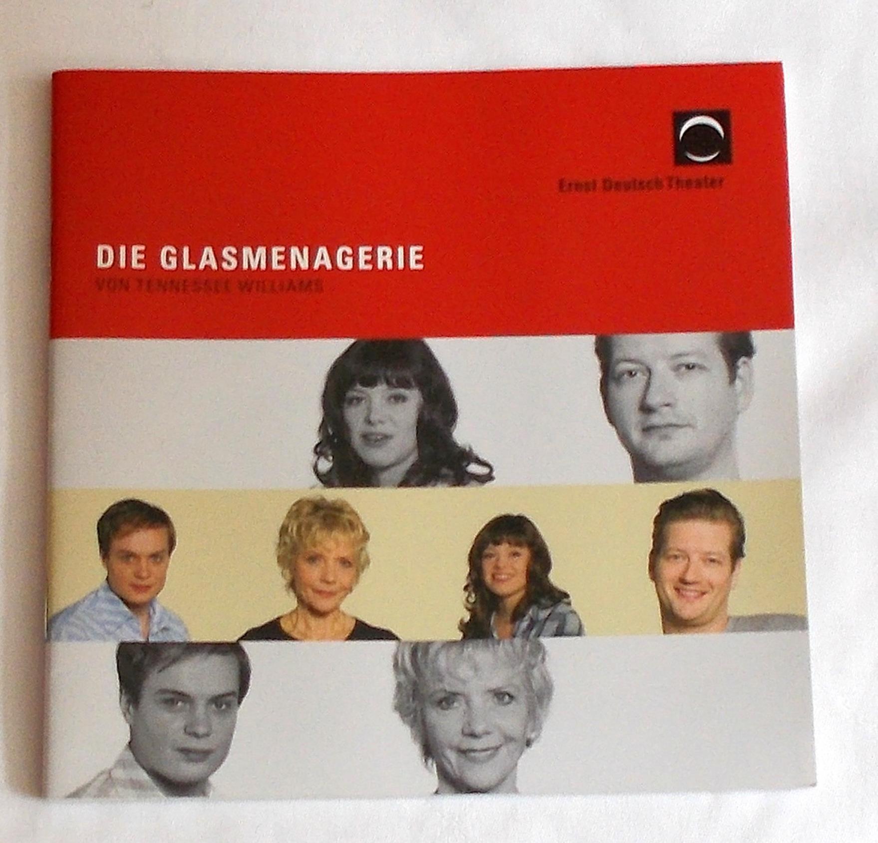 Programmheft Die Glasmenagerie von Tennessee Williams Ernst Deutsch Theater 2011