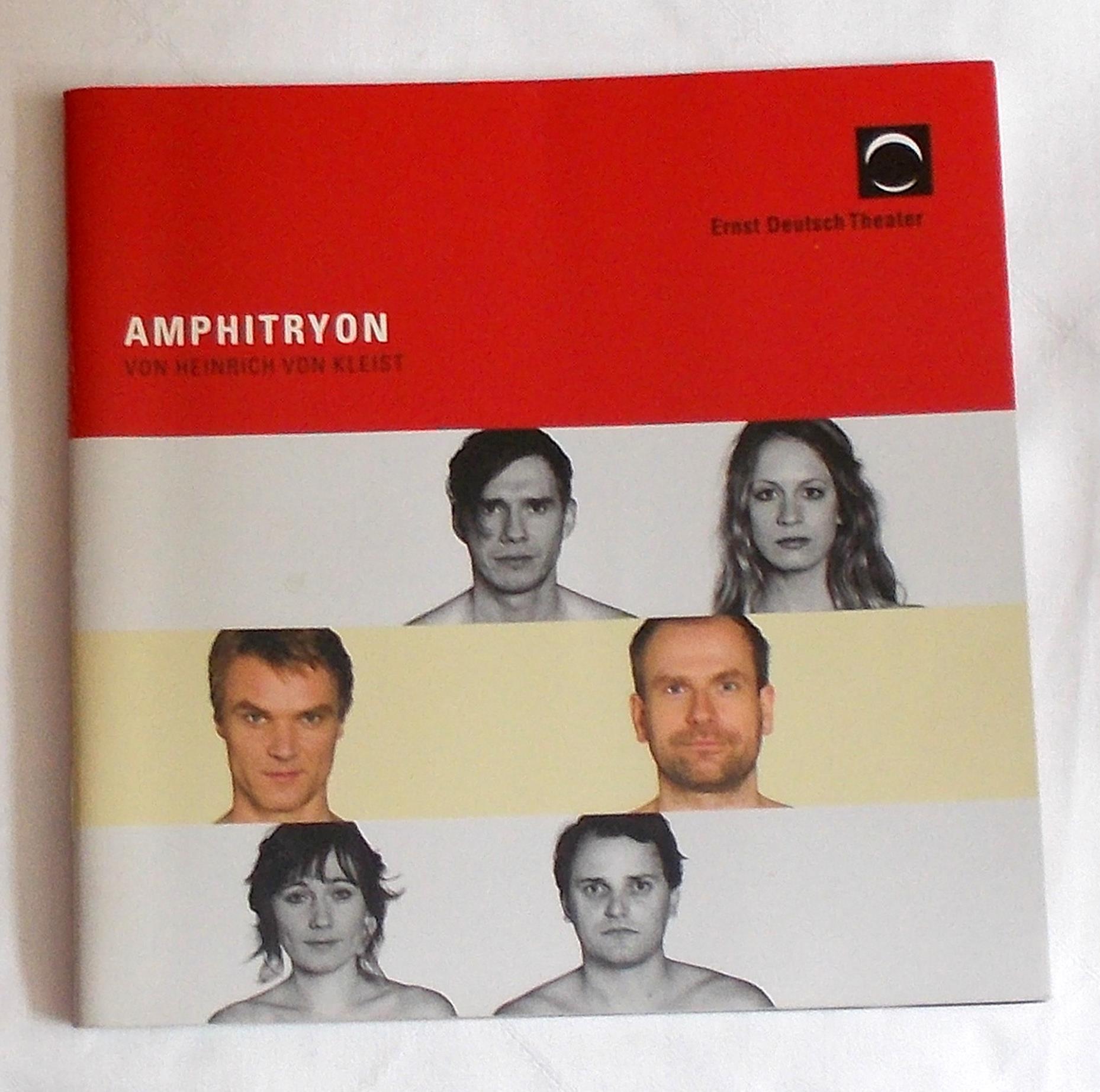 Programmheft AMPHITRYON von Heinrich von Kleist Ernst Deutsch Theater 2011