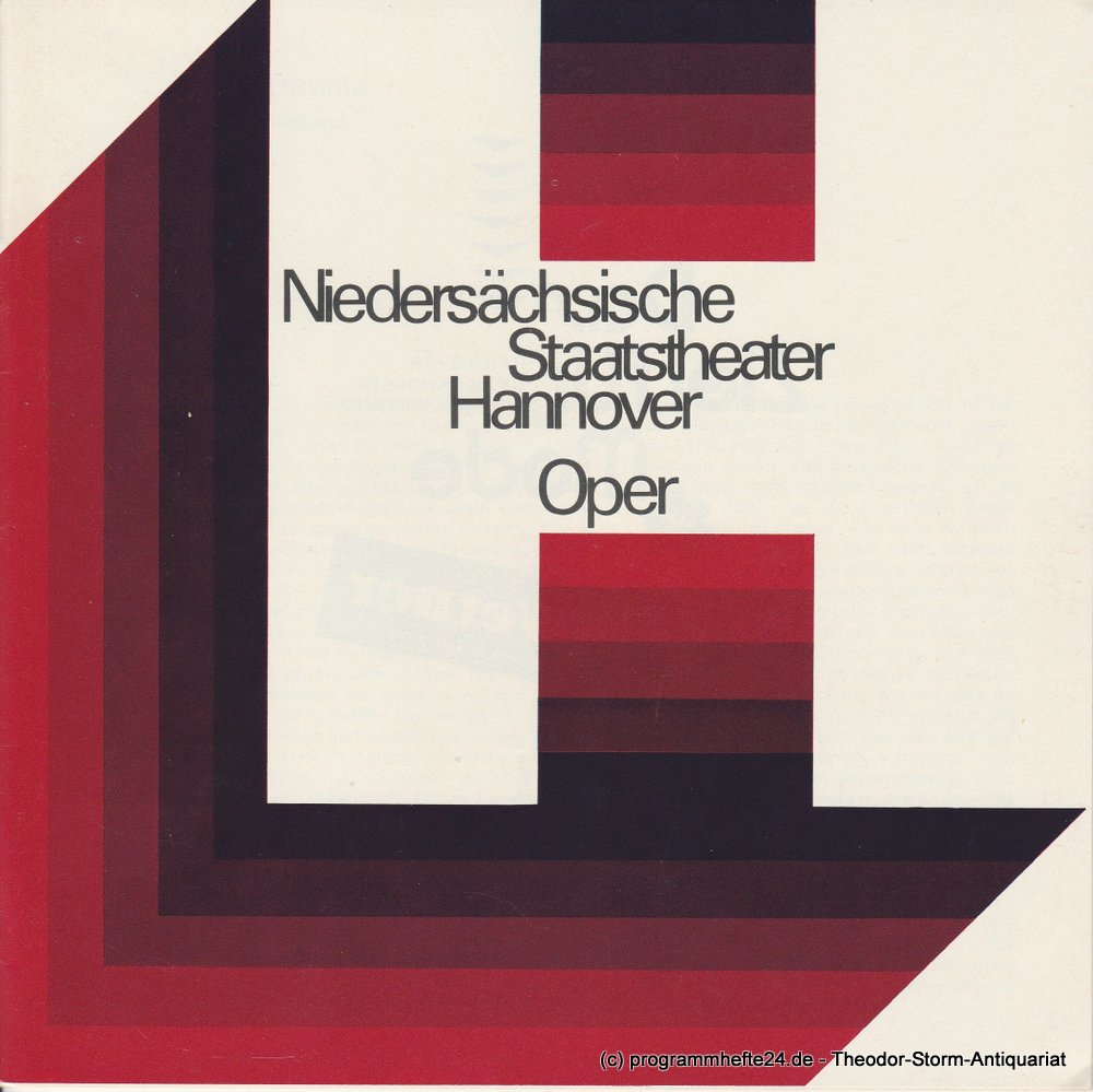 Programmheft La Traviata. Niedersächsische Staatstheater Hannover, Oper 1975