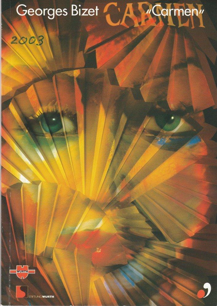 Programmheft Georges Bizet CARMEN Sommeroper Schloss Weikersheim 2003