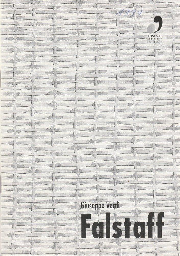 Programmheft Giuseppe Verdi FALSTAFF Schloß Weikersheim 1994