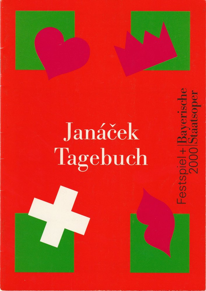 Programmheft Leos Janacek TAGEBUCH EINES VERSCHOLLENEN Bayer. Staatsoper 2000