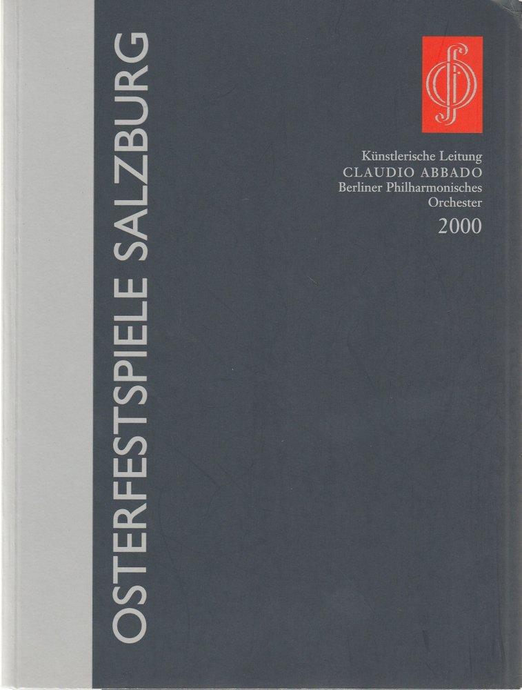 Programmheft OSTERFESTSPIELE SALZBURG 2000