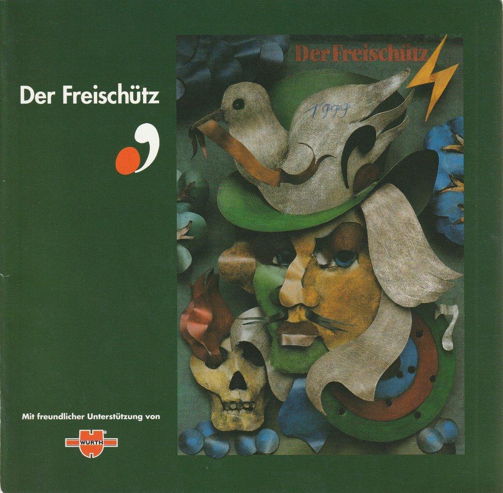 Programmheft Carl Maria von Weber DER FREISCHÜTZ Jeunesses Musicals 1999