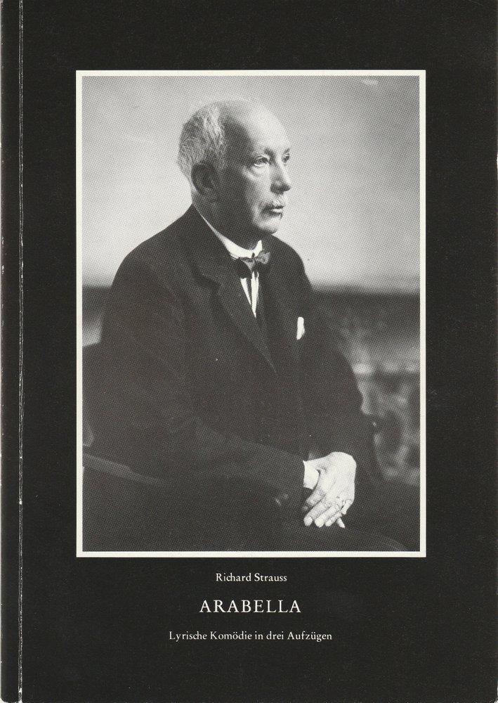Programmheft Richard Strauss ARABELLA Bayerische Staatsoper 1983