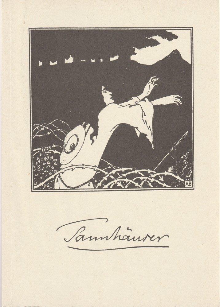 Programmheft Richard Wagner TANNHÄUSER Bayerische Staatsoper 1983