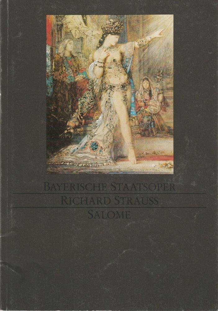 Programmheft Richard Strauss SALOME Bayerische Staatsoper 1987