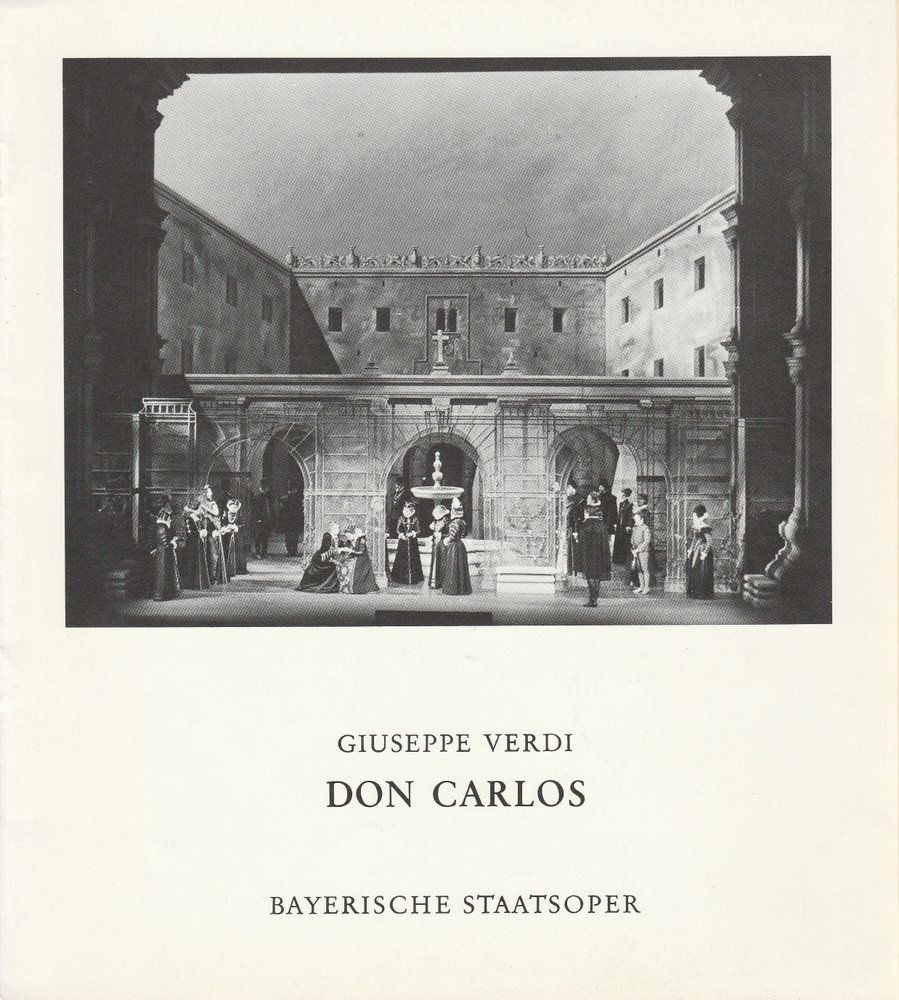 Programmheft Giuseppe Verdi DON CARLOS Bayerische Staatsoper 1975