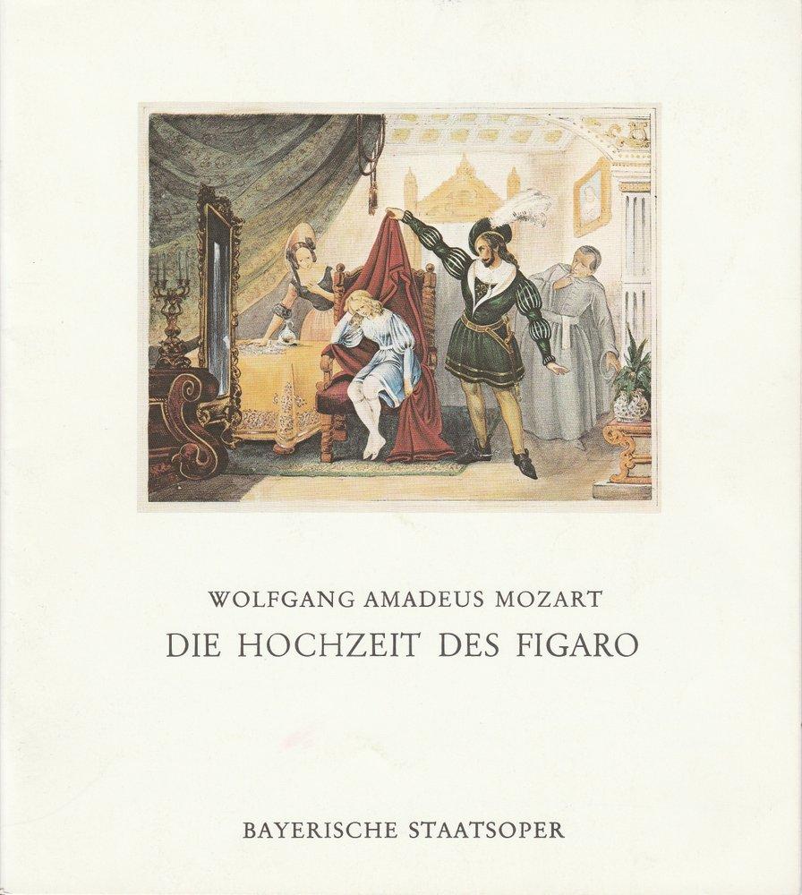 Programmheft W. A. Mozart DIE HOCHZEIT DES FIGARO Bayerische Staatsoper 1977