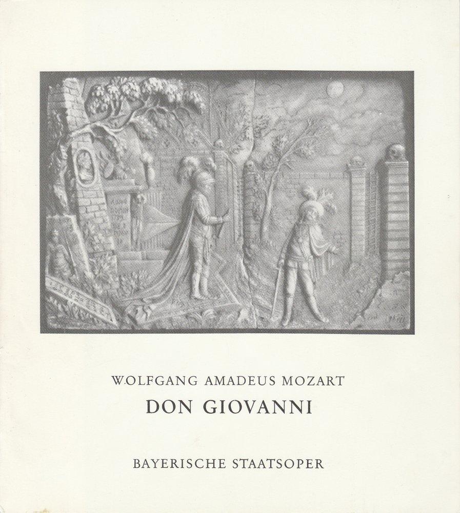 Programmheft Wolfgang Amadeus Mozart DON GIOVANNI Bayerische Staatsoper 1973