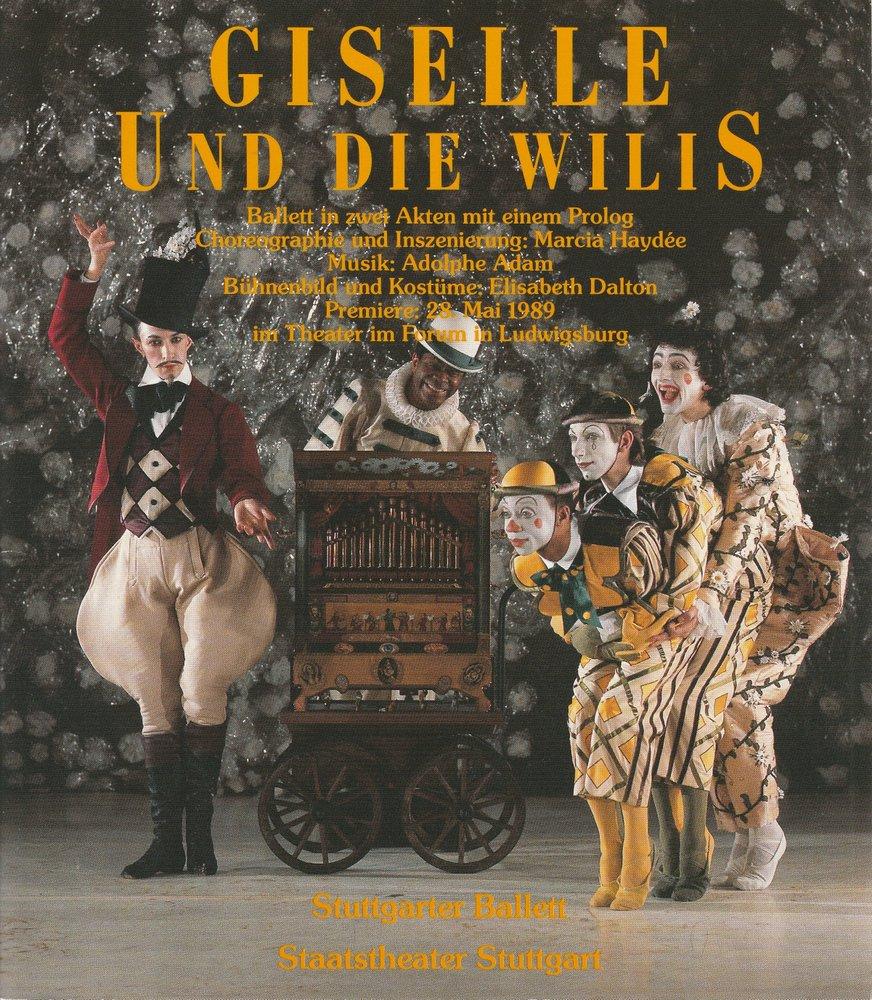 Programmheft BALLETT GISELLE UND DIE WILLIS Staatstheater Stuttgart 1993
