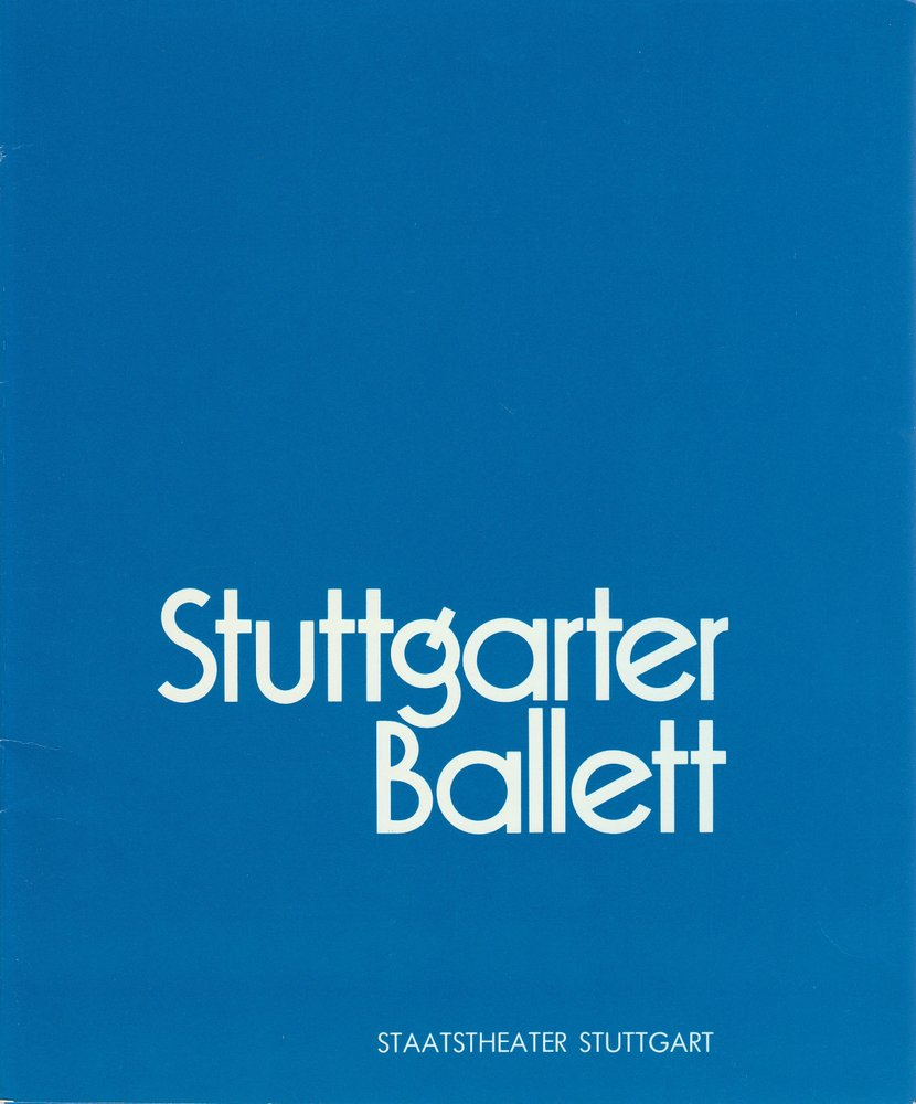 Programmheft STUTTGARTER BALLETT BALLETTABEND Staatstheater Stuttgart 1988