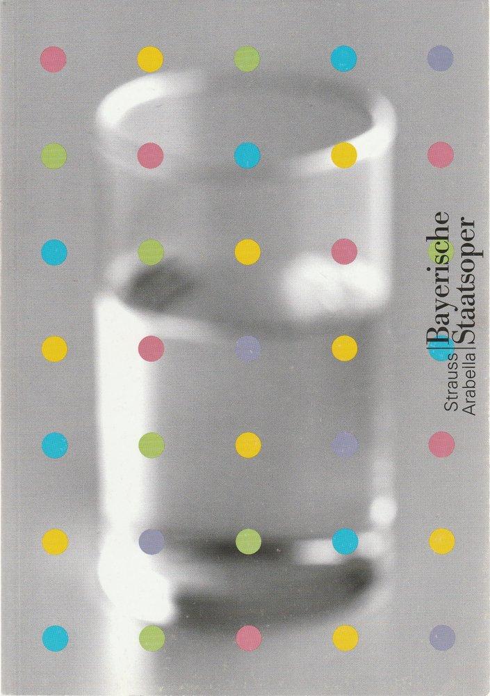 Programmheft Richard Strauss ARABELLA Bayerische Staatsoper 2001