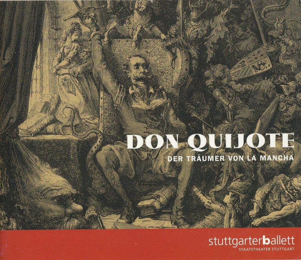 Programmheft Uraufführung Ballett DON QUIJOTE Stuttgart 2000