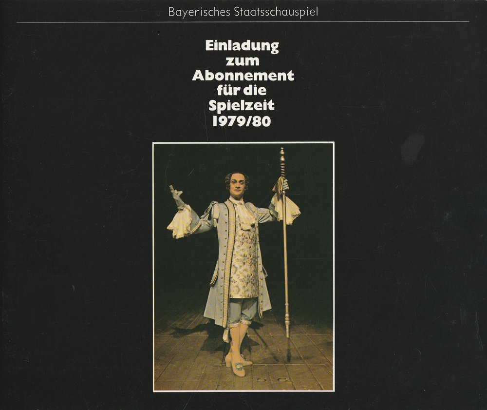 Bayerisches Staatsschauspiel Einladung zu Abonnement für die Spielzeit 1979 / 80