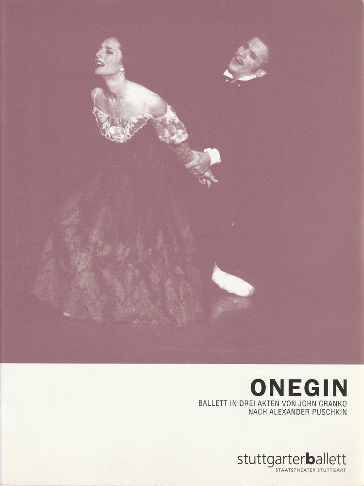 Programmheft ONEGIN Ballett von John Cranko Stuttgarter Ballett 2001