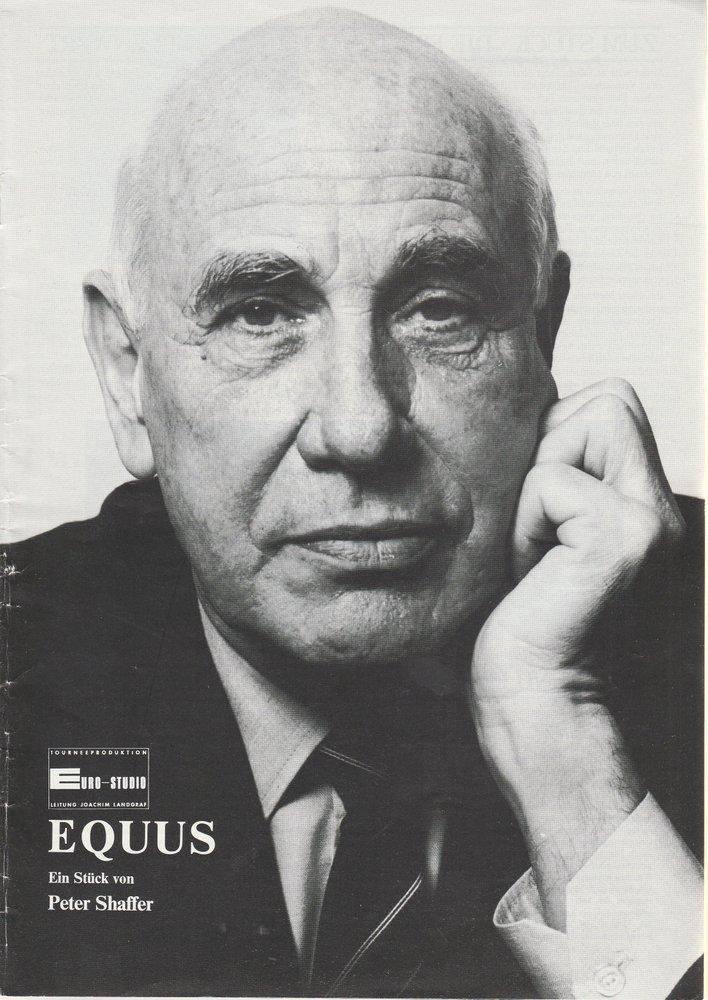 Programmheft Peter Shaffer EQUUS Konzertdirektion Landgraf 1987