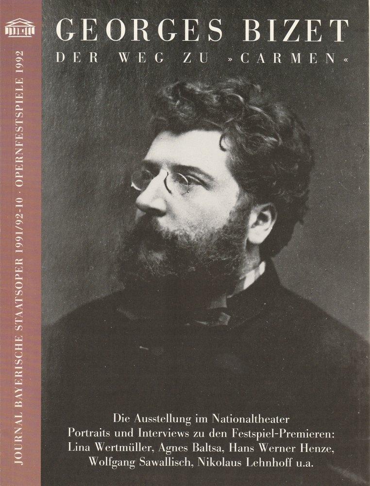 Journal Bayerische Staatsoper 1991 / 92 - 10 Opernfestspiele 1992