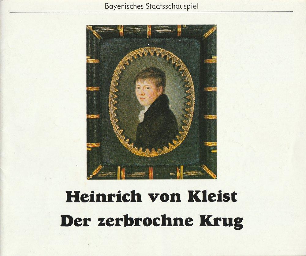 Programmheft Der zerbrochne Krug Bayerisches Staatsschauspiel 1979