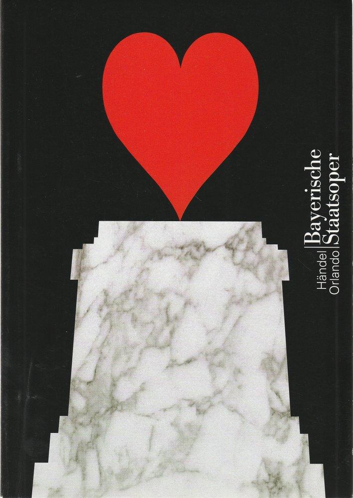 Programmheft Georg Friedrich Händel ORLANDO Bayerische Staatsoper 2006