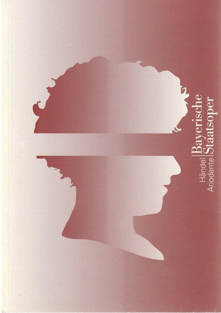 Programmheft Georg Friedrich Händel ARIODANTE Bayerische Staatsoper 2000