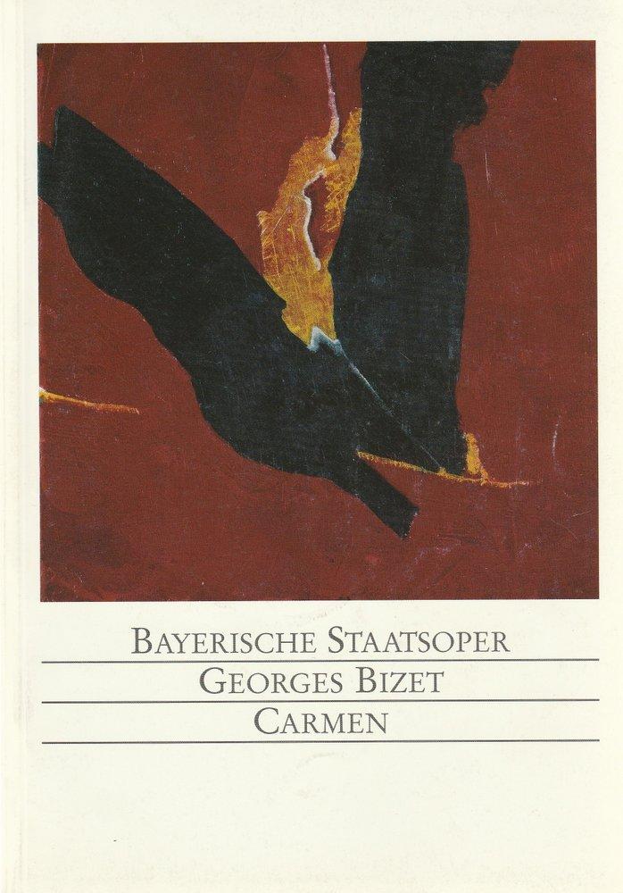 Programmheft CARMEN von Georges Bizet Bayerische Staatsoper 1992