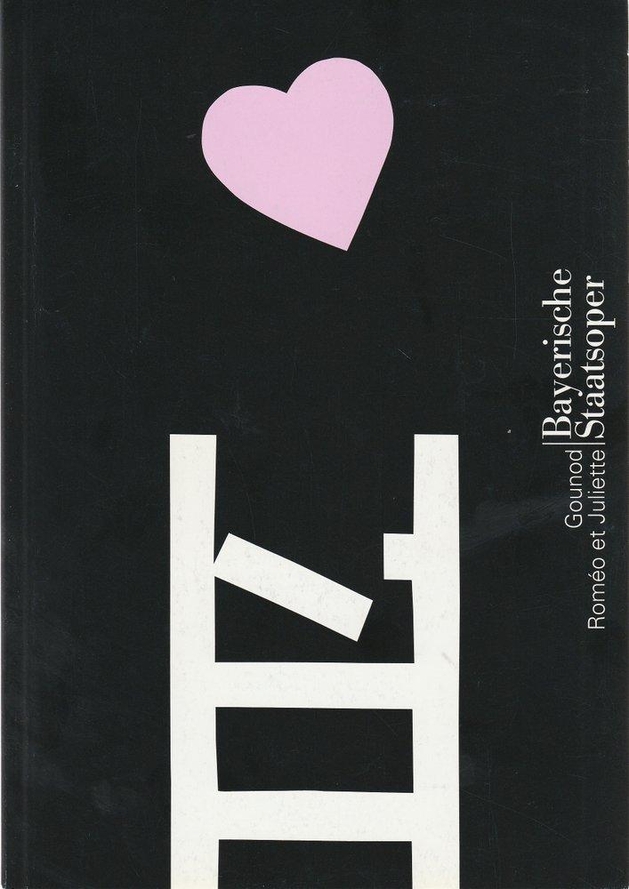 Programmheft Charles Gounod ROMEO ET JULIETTE Bayerische Staatsoper 2004