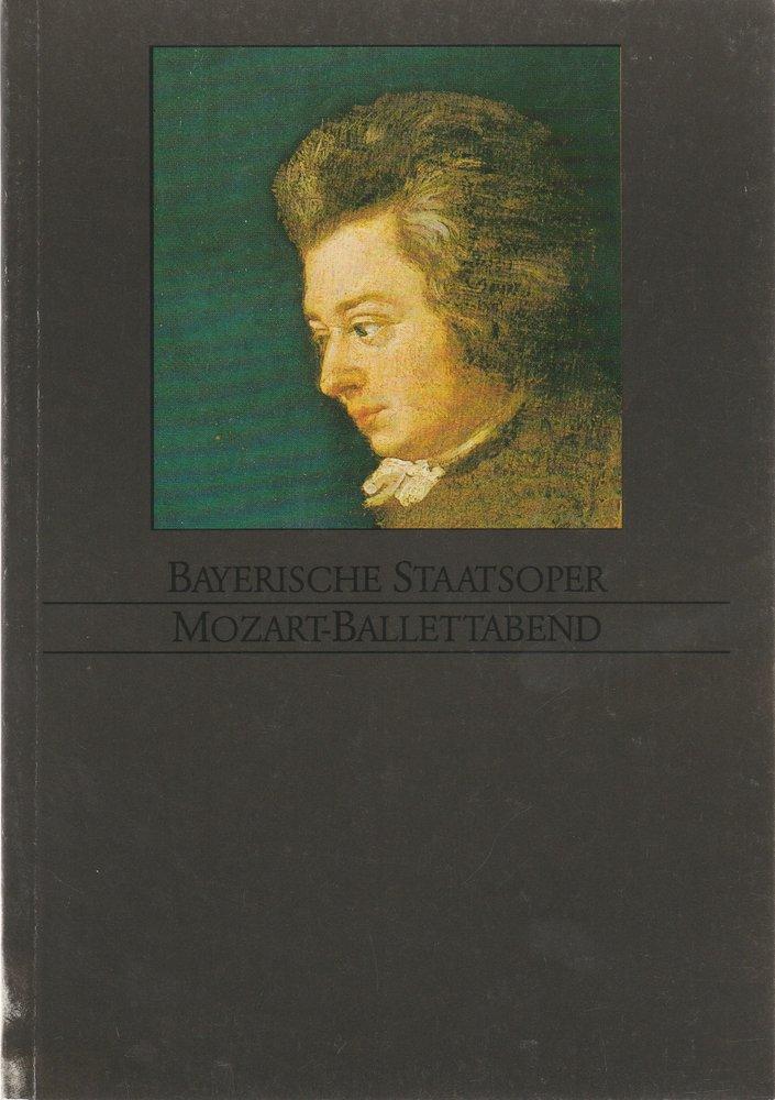Programmheft MOZART - BALLETTABEND Bayerische Staatsoper 1985