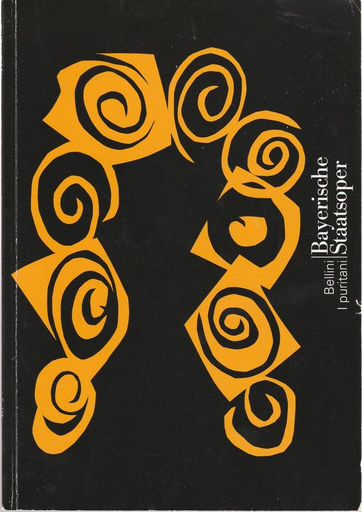 Programmheft Vincenzo Bellini I PURITANI Bayerische Staatsoper 2000