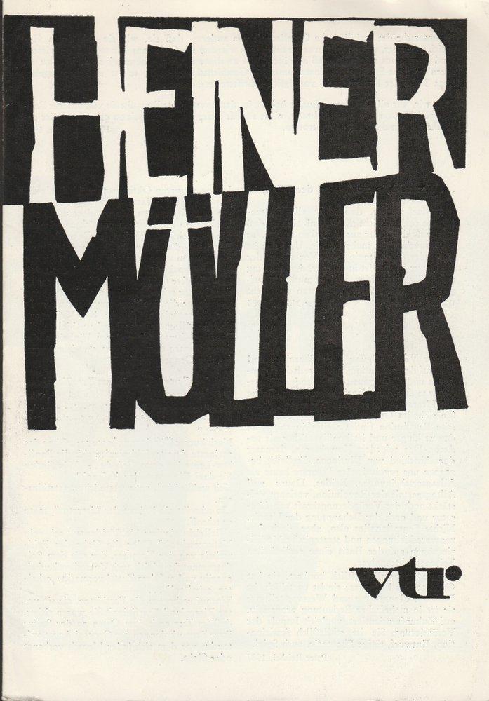 Programmheft Heiner Müller WOLOKOLAMSKER CHAUSSEE I-III Rostock 1988